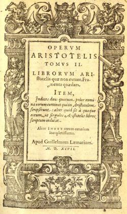 edição em latim de Arte Poética