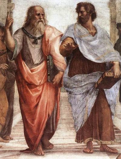 Platão e Aristóteles, pintador por Raphael