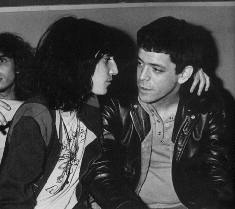 Patti Smith e Lou Reed
