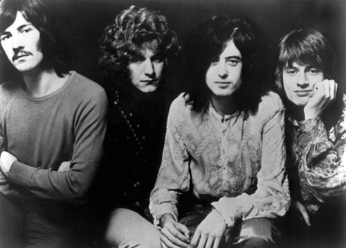 Foto de divulgação do Led Zeppelin em 1969