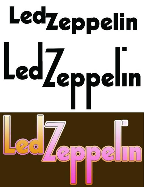 A transformação no logo da banda para o disco.